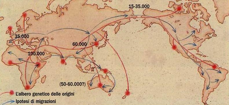 Le migrazioni dell'uomo